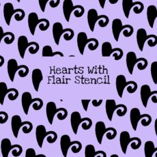 Hearts With Flair Stencil