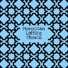 Moroccan Lattice Stencil