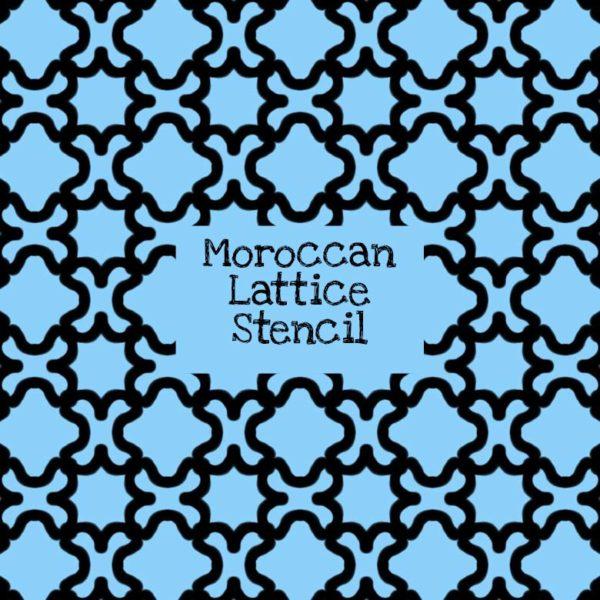 Moroccan Lattice Stencil