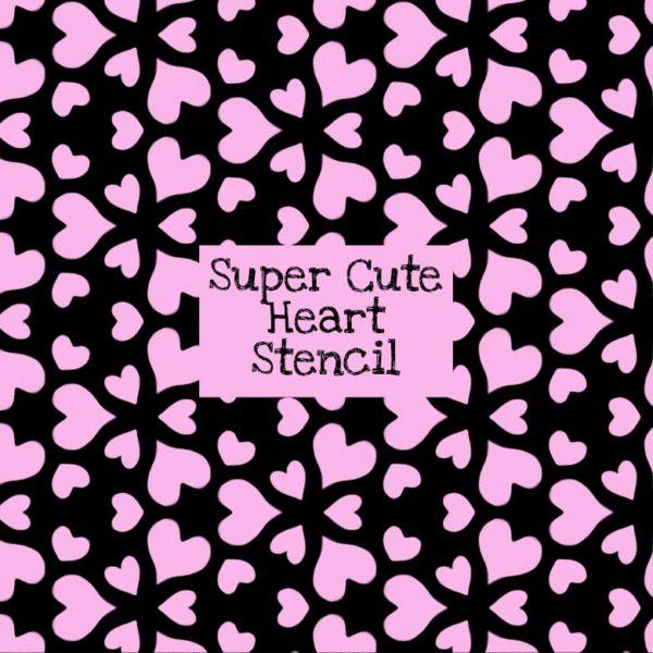 Super Cute Heart Stencil