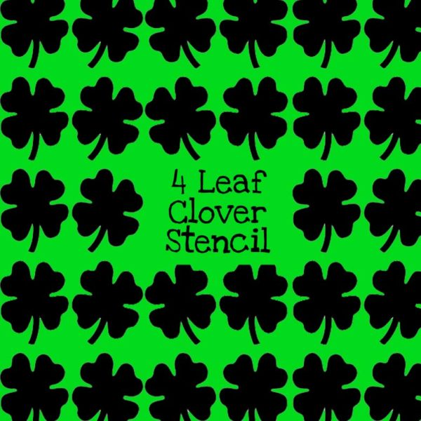 4 Leaf Clover Stencil