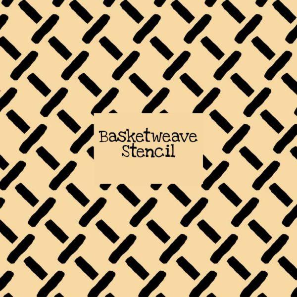 Basketweave Stencil