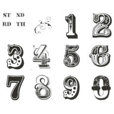 CAL702K Decorative Number Rubber Stamps
