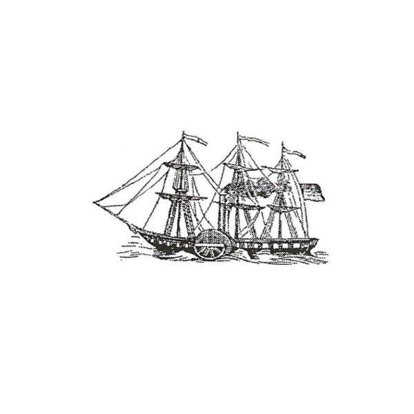 CNA105B At Sea Sm Rubber Stamp