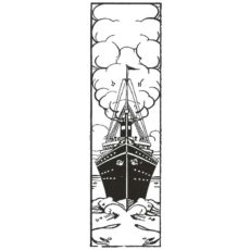 CNA109F Steamer Rubber Stamp