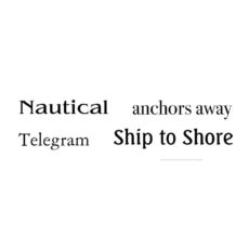 CNA129D Ship To Shore Quartet Rubber Stamps