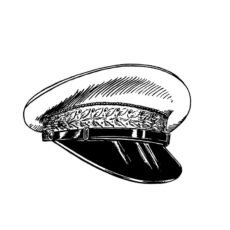 CNA210C Captians Hat Rubber Stamp