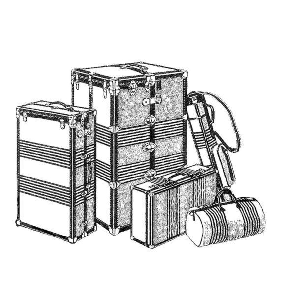 CTP212D Luggage HD Rubber Stamp