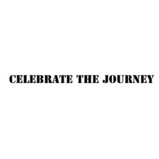 CTP324B Celebrate the Journey HD Rubber Stamp