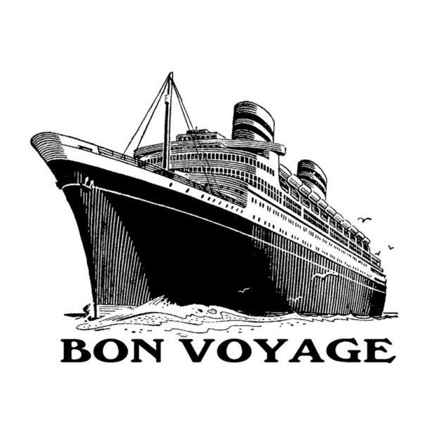 CTP439E Bon Voyage Rubber Stamp