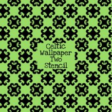 Celtic Wallpaper Two Stencil
