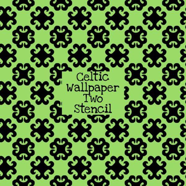 Celtic Wallpaper Two Stencil