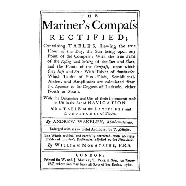 NA224D Mariners Compafs Rubber Stamp