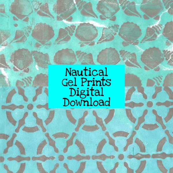 Nautical Gel Prints Digital Download