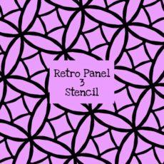 Retro Panel 3 Stencil