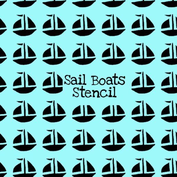 Sail Boats Stencil