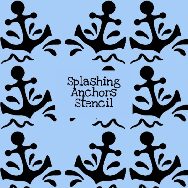 Splashing Anchors Stencil