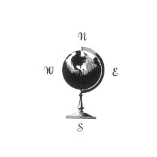 TP116B Globe Rubber Stamp