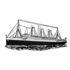 TP211D Ship Rubber Stamp