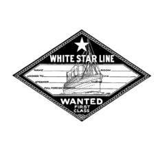TP326D White Star Rubber Stamp
