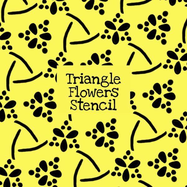 Triangle Flowers Stencil