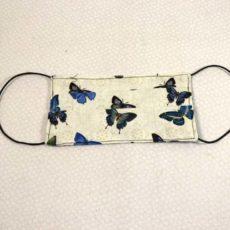 Blue Butterflies Face Mask