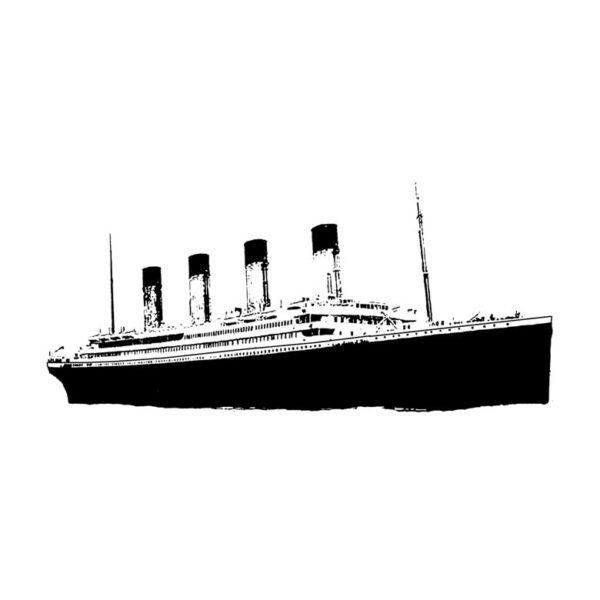 CNA104D Titanic Rubber Stamp