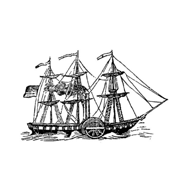 CNA106E At Sea Large Rubber Stamp