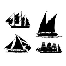 CNA117G Sails Cube Rubber Stamps