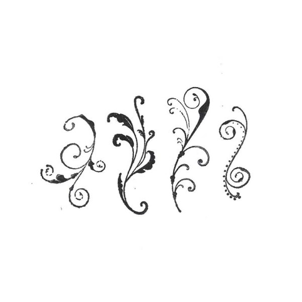 FF731C Curly Swirly Rubber Stamps