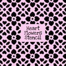 Heart Flowers Stencil