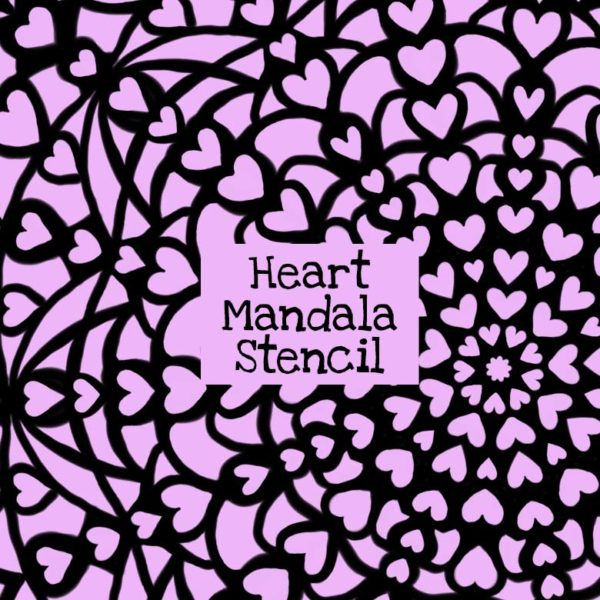 Heart Mandala Stencil