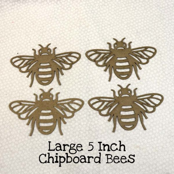 Large 5 Inch Chipboard Bees