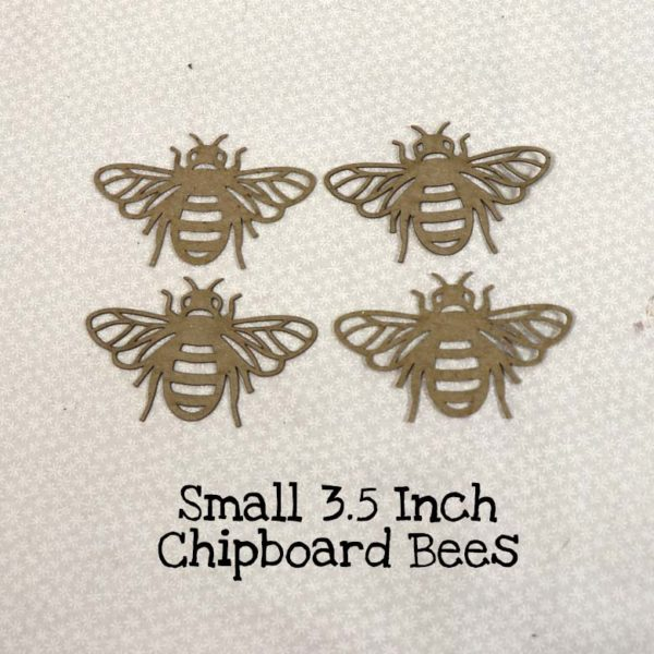 Small 3.5 Inch Chipboard Bees