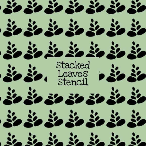 Stacked Leaves Stencil