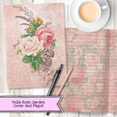 Bella Rose Garden Digital Printable Journal Kit From Sub Box