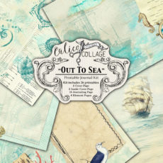 Out To Sea Large Digital Large Journal Kit