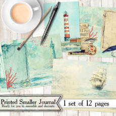 Mini Out To Se Printed Journal Kit