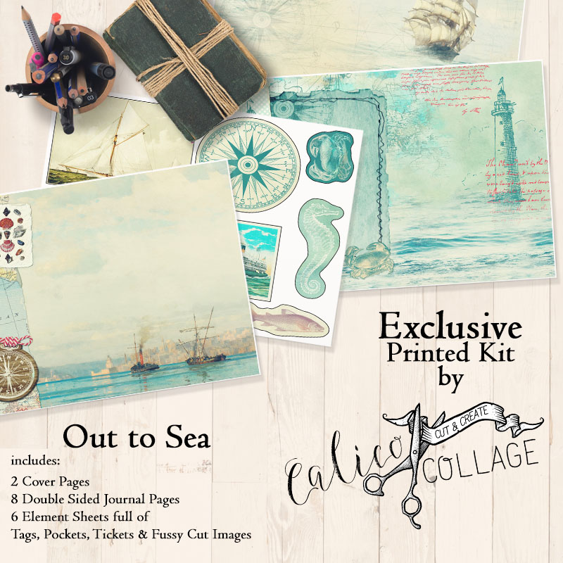 Exclusive Out To Sea Printed Journal Kit