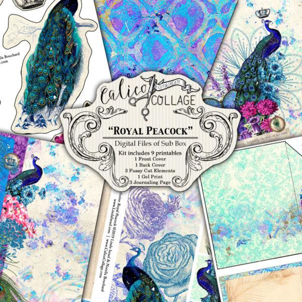 Royal Peacock Digital Journal Kit from Sub Box