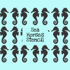 Sea Horses Stencil