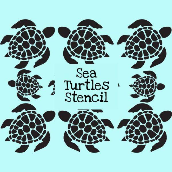 Sea Turtles Stencil