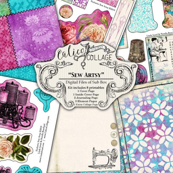 Sew Artsy Digital Journal Kit from Sub Box