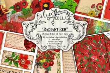 Radiant Red Digital Creative Box Journal Kit