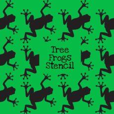 Tree Frogs Stencil