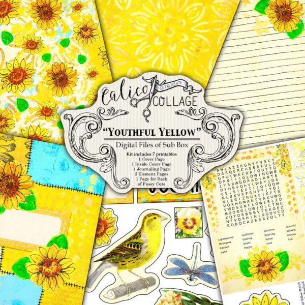 Youthful Yellow Digital Creative Box Journal Kit