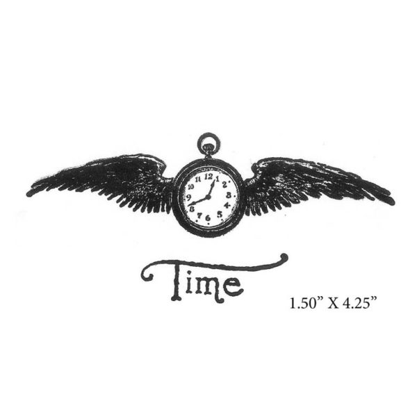 CGE126F Time Flies Lg Rubber Stamp