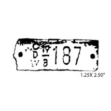 CHC712B 187 Rubber Stamp