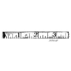 CMU111D 123 Measure Rubber Stamp