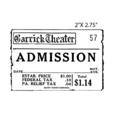 CST316D Admission Rubber Stamp